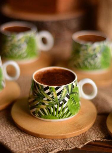 Bambum Fidan 6 Kişilik Kahve Fincan Takımı Renkli
